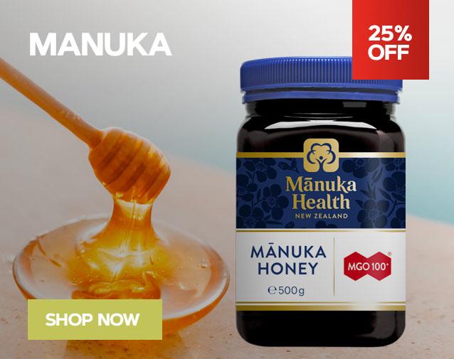 25% OFF MANUKA HEALTH
